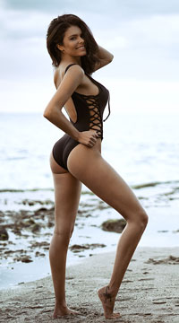 Yandy Daring Laced One Piece Swimsuit - Black