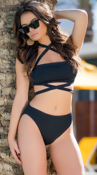 Yandy Purely Basic Bikini Bottom - Black
