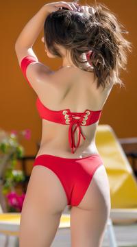 Yandy Vintage Starlet Bikini Bottom - Red