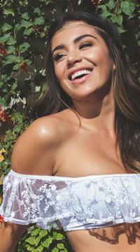 Yandy Honeymoon Vibes Bikini Top - White