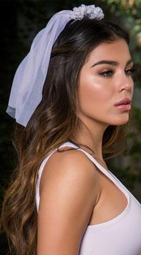 Yandy Floral Bride Veil - White