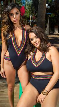 Yandy Ixtapa One Piece Swimsuit - as shown