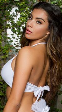 Yandy Tying the Knot Bikini Top - White