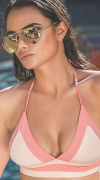 Yandy Pink Aurora Bikini Top - as shown