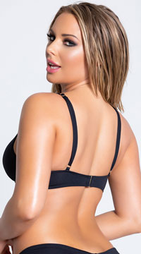 Yandy Morganite Glow Peek-A-Boo Bikini Top - Black