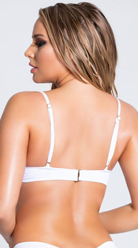 Yandy Morganite Glow Peek-A-Boo Bikini Top - White