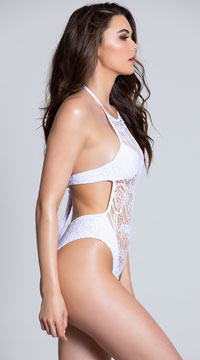 Yandy Bayberry Beauty Monokini - White