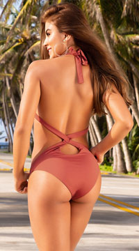 Yandy Beat It Babe Monokini - Terracotta