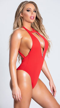 Yandy You're A Gem One Piece Swimsuit - Red