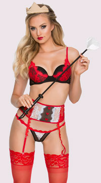 Yandy Red Heart Queen Lingerie Costume - Red