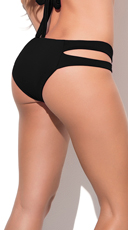 Yandy Totally Strapped Bikini Bottom - Black