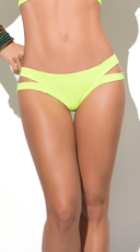 Yandy Totally Strapped Bikini Bottom - Hot Green