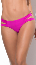 Yandy Totally Strapped Bikini Bottom - Hot Pink