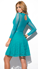 Yandy Sweetheart Lace Dress - Jade