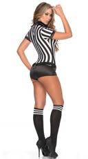 Yandy Sexy Sequin Referee Costume - as shown