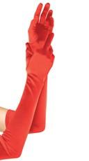 Extra Long Satin Gloves - Fuchsia