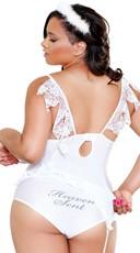 Plus Size Heaven Sent Angel Lingerie Costume - White