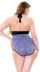 Plus Size Lolita Lace Teddy - Blue