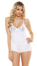 Ivy Lace Cami and Shorts Set - Ivory