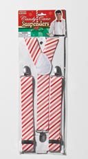 Candy Cane Suspenders - Red/White