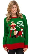 Naughty Santa Sweater - as shown