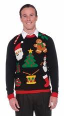 Plus Size Everything Christmas Sweater - Black