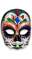 Day of the Dead El Senor Face Mask - Black