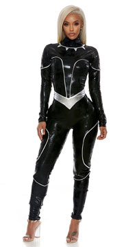 Reigning Panther Costume - Black/Silver
