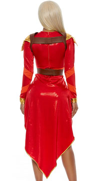 African Warrior Costume - Red
