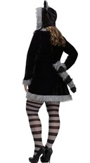 Plus Size Sexy Raccoon Costume - Black