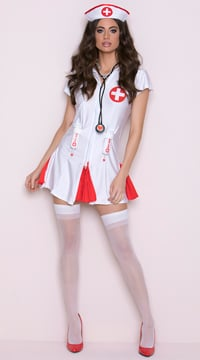 Say Ahhhh! Nurse Costume - Red/White