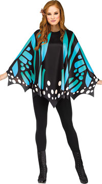Butterfly Wing Poncho Costume - Teal