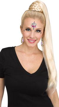 Braided Ponytail Wig - Blonde