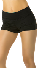 Fitted Contrast Color Gym Shorts - as shown