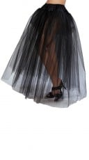 Full Length Petticoat - Black