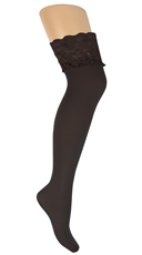 Plus Size Lace Stockings - Black