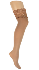 Plus Size Lace Stockings - Nude