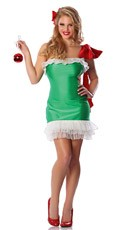 Gift Wrapped Costume - Green/White