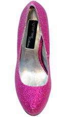 Kisses Platform Pump - Fuchsia Glitter