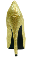 Kisses Platform Pump - Gold Glitter