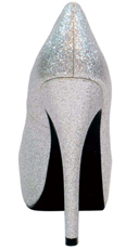 Kisses Platform Pump - Silver Glitter