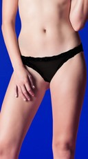 Cage Back Cheeky Panty - Black