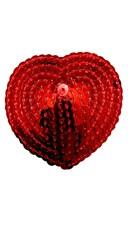 Red Sequin Heart Pasties - Red