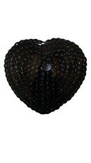 Black Sequin Heart Pasties - Black