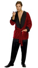 Smoking Jacket Costume - Red/Black