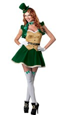 Deluxe Lucky Lass Costume - Green/Gold