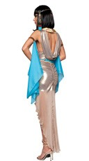 Deluxe Pharaohs Treasure Costume - Tan/Blue