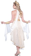 Deluxe Golden Goddess Costume - White