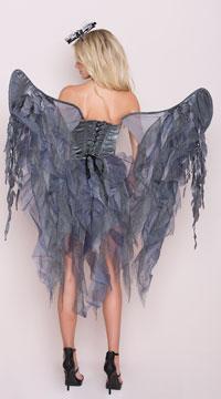 Deluxe Dark Angel Costume - Black