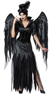 Midnight Raven Costume - Black